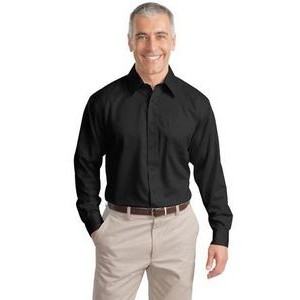 Port Authority® Adult Long Sleeve Non-Iron Twill Shirt (Tall Size)