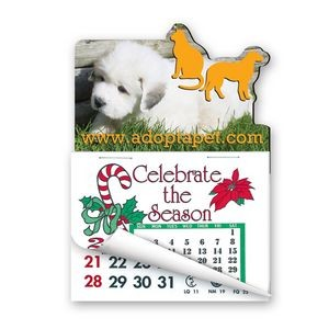 Dog & Cat Shape Calendar Pad Magnets W/Tear Away Calendar