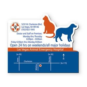 "2.5""X3"" Dog & Cat Veterinarian Stock Shape Vinyl Magnet - 20mil"