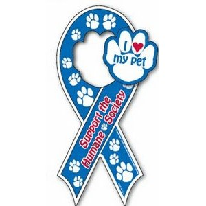 Pick 2™ Auto Ribbon Magnet with Paw Shaped Center