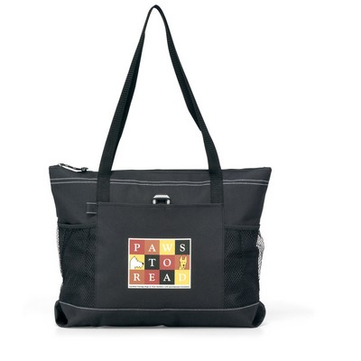 Select Zippered Tote Black