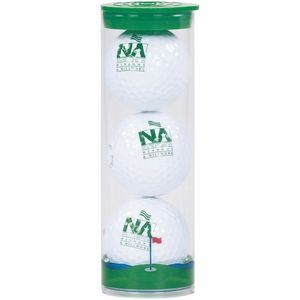 Clear Tube w/3 Wilson Ultra Golf Balls