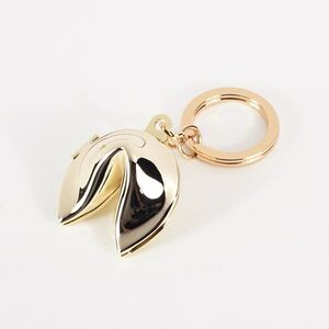 Gold Fortune Cookie Key Ring