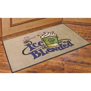 3'x4' DigiPrint™ Nylon Indoor Carpeted Logo Mat w/Rubber Backing