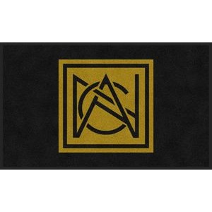 4'x6' Flocked Olefin Indoor Logo Mat - 1 Color