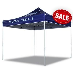 10'x10' V5 Steel Frame Pop Up with a Front Panel & Valance Printed Top