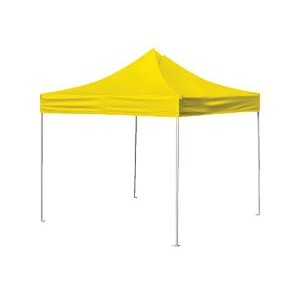 10'x10' V5 Steel Frame Pop Up Tent with a Solid Color Stock Top