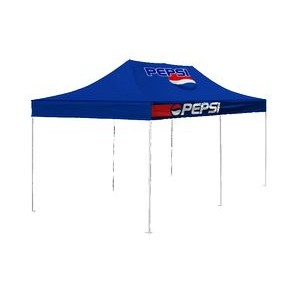 10'x20' V3 Premium Aluminum Tent Frame with Front Peak & Valance Printed Top