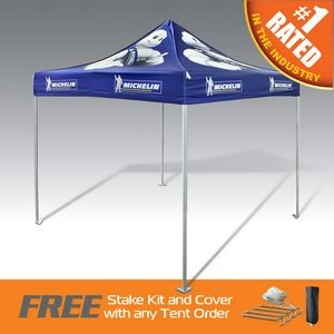 The Best Pop Up Canopy Tent in the Promo Industry- Ultra Strong and Durable Aluminum W/ Full Dye Top